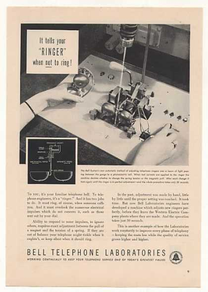 Bell Telephone Labs Ringer Adjustment Machine (1951)