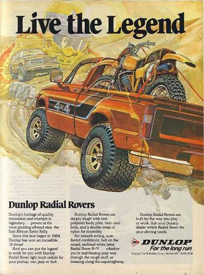 Dunlop's Radial Rover Truck Tires (1984)