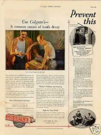 Colgate's Ribbon Dental Cream Color (1925)
