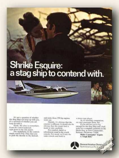 Shrike Commander Esquire Color Photo Plane (1970)