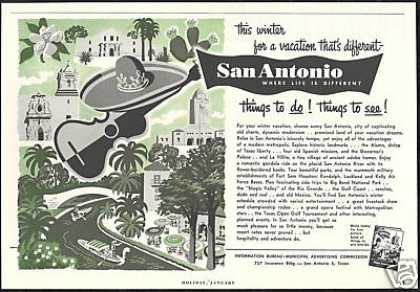 San Antonio Texas Different Life Vintage Travel (1955)