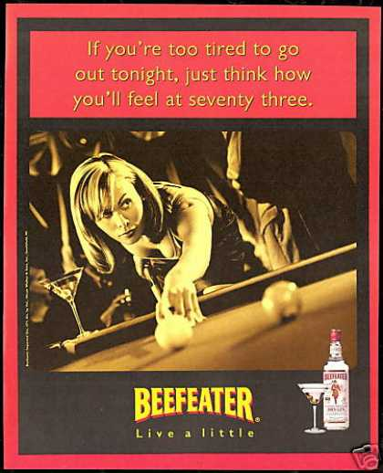 Pretty Woman Pool Table Beefeater Gin (1997)