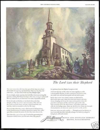 John Hancock Insurance Church Thank God Art (1950)
