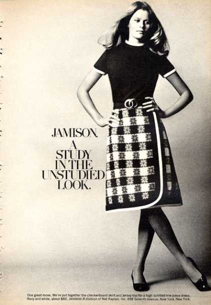 Jamison Checkerboard Skirt Jersey Top Fashion (1972)
