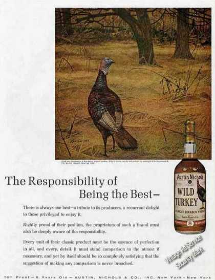 "Wild Turkey Ken Davies Art ""Being the Best"" (1967)"