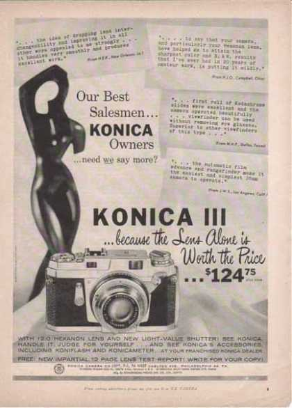 "Konica III Camera – ""because the lens alone is worth the price"" (1958)"