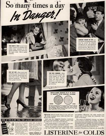 Lambert Pharmacal Company's Listerine – So many times a day In Danger (1938)