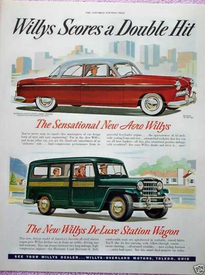 Willys De Luxe Station Wagon Areo Willys Scores (1952)