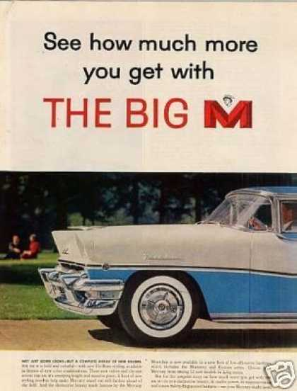 Mercury Montclair Car Ad 2 Page (1956)