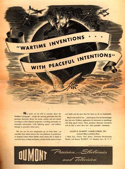 "Allen B. DuMont Laboratorie's DuMont Cyclograph – ""Wartime Inventions with Peaceful Intentions"" (1943)"