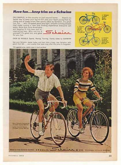 Schwinn Continental Varsity Bicycle Bikes (1963)