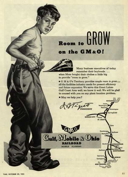 Gulf, Mobile & Ohio – Room to GROW on the GM&O (1951)