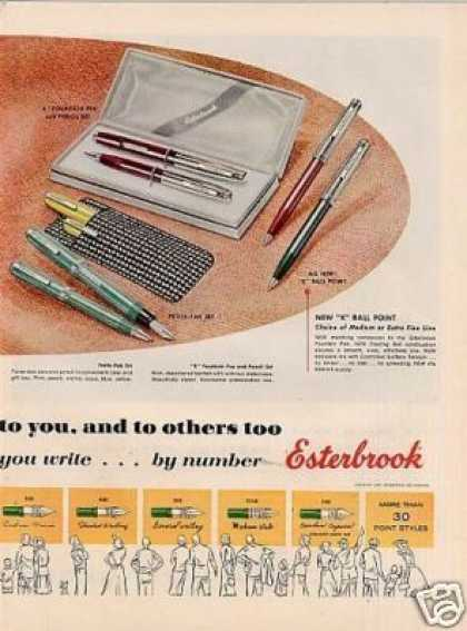 Esterbrook Pens Ad 2 Page (1956)