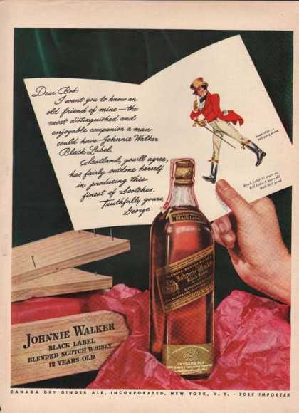 Johnnie Walker Black Label Whisky (1942)