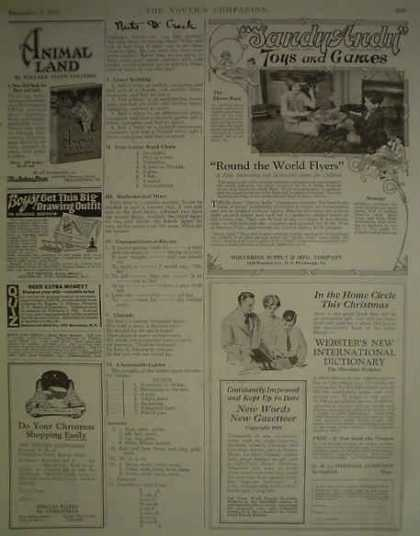 Sandy Andy Toys and Games Round the world fliers (1925)