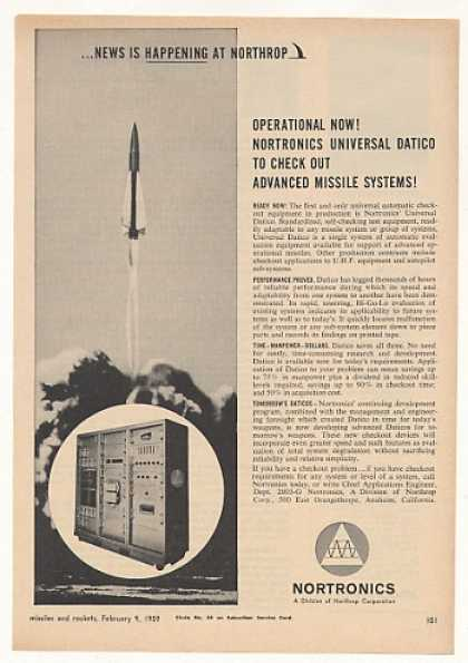 Nortronics Universal Datico Missile Test System (1959)