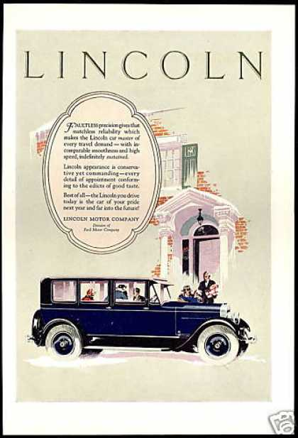 Lincoln Motor Company Car Vintage (1927)