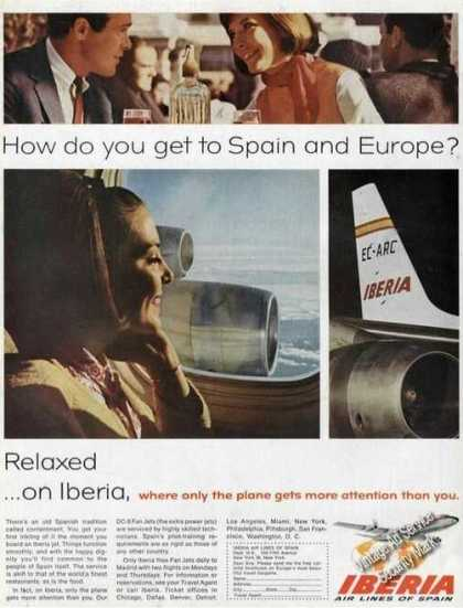 Iberia Air Lines of Spain Airplane (1966)