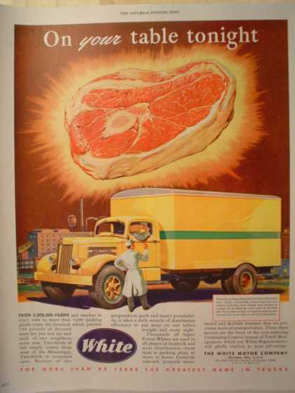 White Trucks Trucking Beef Theme (1947)