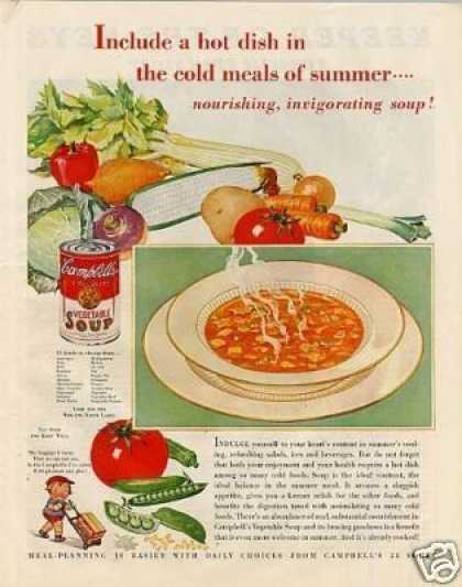 "Campbell's Vegetable Soup Ad ""Include (1933)"