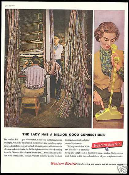 Telephone Switchboard Wire Installers Western (1959)