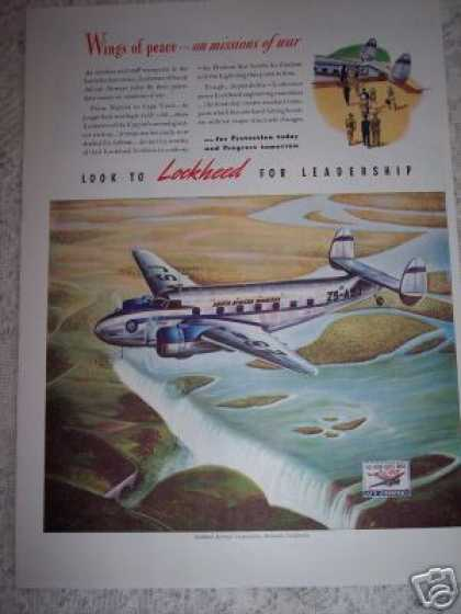 South African Airways Lockheed Plane (1941)