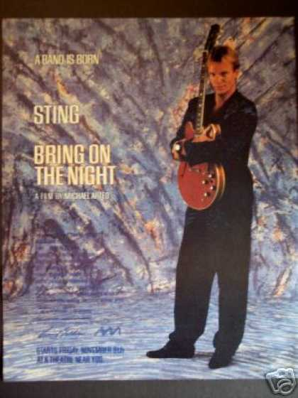 "Sting In ""Bring On the Night"" Movie Promo (1985)"