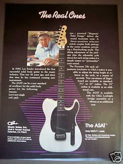 Leo Fender the Asat G&l Guitars (1987)