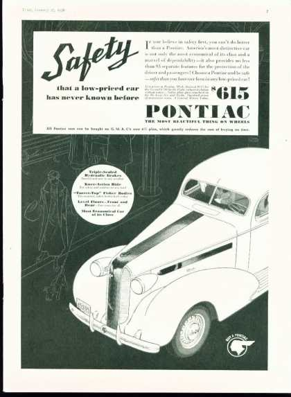 Pontiac Safety Reverse Printed Art Deco Styled (1936)