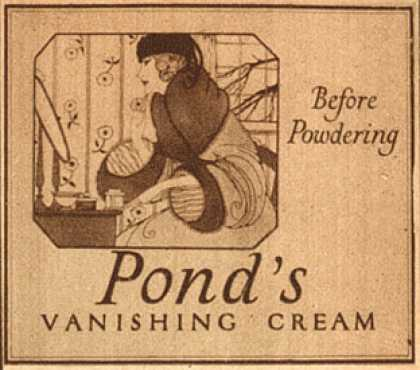 Pond's Extract Co.'s Pond's Vanishing Cream – Before Powdering (1921)