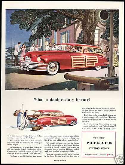 Packard Woody Station Wagon Sedan Car Brindle (1948)