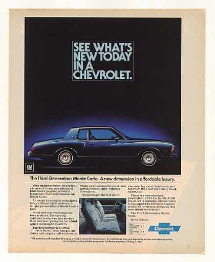 Chevy Third Generation Monte Carlo Photo (1978)