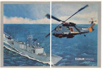 Kaman US Navy Helicopter Ship art (1983)