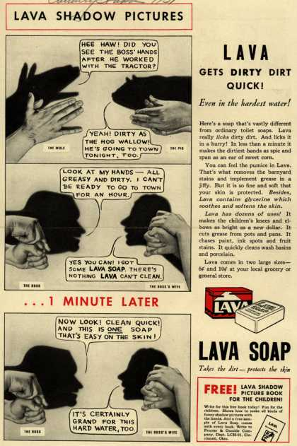 Procter & Gamble Co.'s Lava Soap – Lava Shadow Pictures (1931)