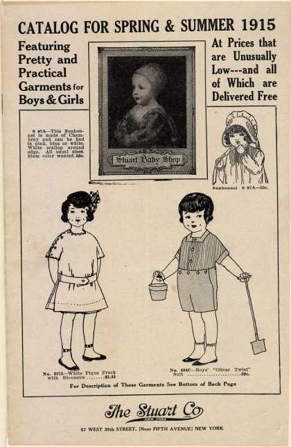 Stuart Co.'s clothes (children) – Catalog for Spring and Summer 1915 (1915)