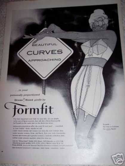 Formfit Bra Girdle Curves Approaching (1959)