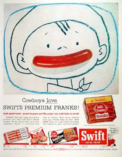 Swift Hot Dog Franks (1956)