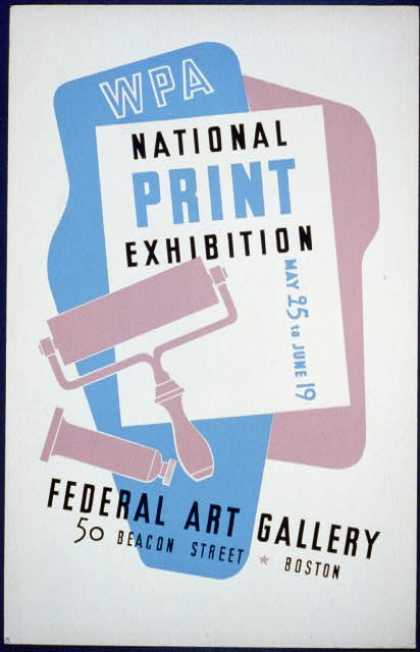 WPA national print exhibition, Federal Art Gallery. (1936)