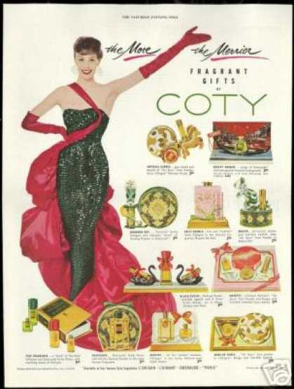 Coty Fragrances Perfume Christmas (1954)