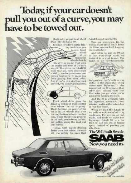 "Saab 99 ""The Well Build Swede"" Car (1971)"