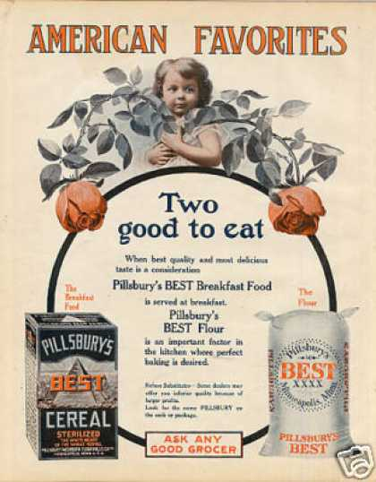 Pillsbury's Best Cereal & Flour Color (1908)