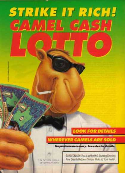 Camel Cigarette – Joe Camel Cash Lotto – Sold (1993)