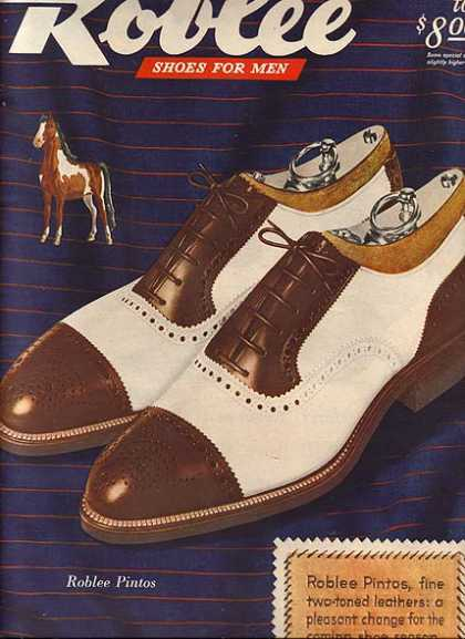 Roblee's Pintos two-toned leather shoes (1945)