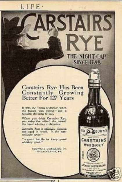 Carstairs Whiskey (1915)
