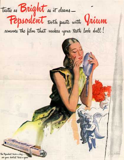 Lever Brothers Company's Pepsodent Dental Cream – Tastes as Bright (1945)
