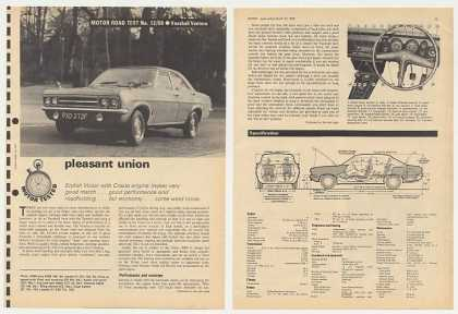 Vauxhall Ventora Road Test 6-Page British Article (1968)