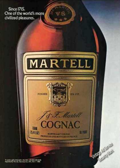 Martell Cognac Civilized Pleasures (1982)