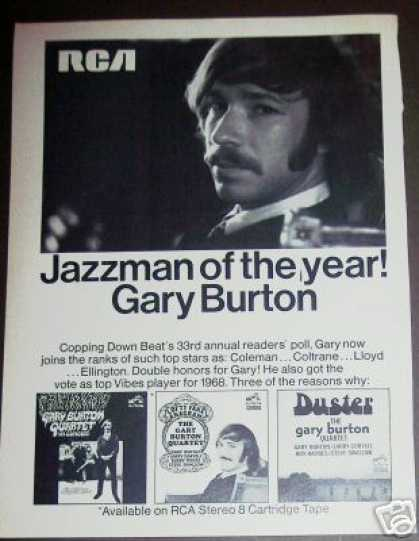 Jazzman of the Year Gary Burton Record Promo (1968)