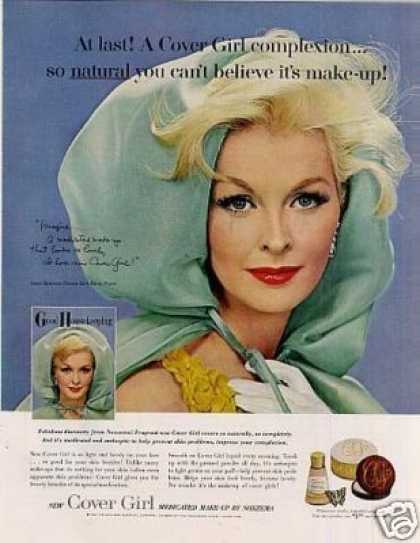 Cover Girl Make-up Ad Sara Thom (1962)