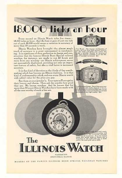 Illinois Watch Miami Marquis-Strap Illini (1928)